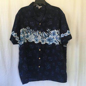 Kennington Ltd Vintage Hawaiian Shirt Sz XL Flawed